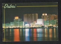 United Arab Emirates Dubai By Night View Postcard UAE - Dubai