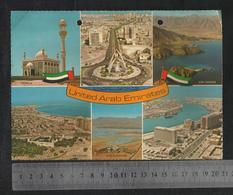 United Arab Emirates UAE 6 Scene Sharjah Dubai Kor Fakhan Abu Dhabi Ras Al Khaima Picture Postcard Size 21 X 14 Cm - Dubai