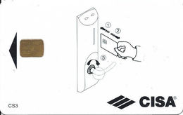 CISA Hotel Room Key Card With Smart Chip - Blank Reverse - Hotel Keycards