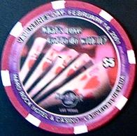 $5 Casino Chip. Hard Rock, Las Vegas, NV. Valentine 2001, NEW. Only 4000 Made. HR04. - Casino