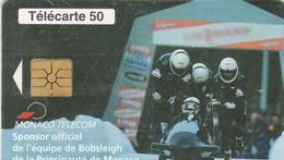TELECARTE 50  MONACO  CALENDRIER DE LE FEDERATION DE BOBSLEIGH 1999 - Monaco