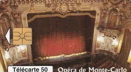 TELECARTE 50  MONACO  OPERA DE MONTE-CARLO - Monaco