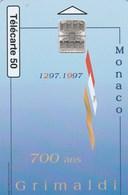TELECARTE 50  MONACO  700 ANS GRIMALDI - Monaco