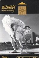TELECARTE 50  MONACO  LES BALLETS DE MONTE-CARLO - Monaco