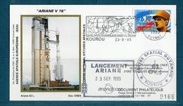 ESPACE - ARIANE Vol Du 1995/09 V78 - CNES - 3 Documents - FDC & Commémoratifs