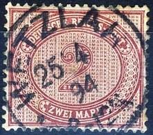 Germania Reich 1875 UN N. 43 M. 2 Vinaceo Usato Cat. € 7 - Gebraucht