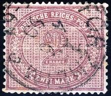 Germania Reich 1875 UN N. 43a M. 2 Violetto Usato Cat. € 180 - Gebraucht