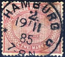 Germania Reich 1875 UN N. 43d M. 2 Violetto Lilla Usato Cat. € 125 - Gebraucht