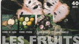 POLYNESIE FRANCAISE  40 UNITES  LES FRUITS - French Polynesia