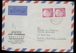 GERMANY 1955 Airmail Cover To USA -........81903 - [7] Federal Republic