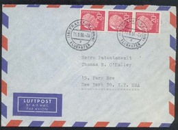 GERMANY 1956 Airmail Cover To USA -........81908 - [7] Federal Republic