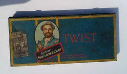 RARE OLD BIG CASE TIN BOX Echter HANEWACKER TWIST NORDHAUSEN / HARZ SEITE 1817 , Cca 1920 - Tins
