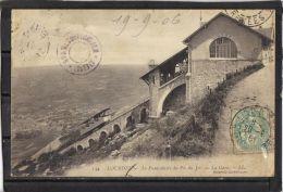 65179 . LOURDES . LE FUNICULAIRE  DU PIC DE JER . LA GARE . LL. (recto/verso)  ANNEE  1906 - Lourdes