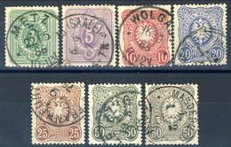 Germania Reich 1875 UN Serietta N. 30-35A Usati Cat. € 81 - Gebraucht
