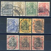 Germania Reich 1902 UN Serie N. 51-60 Usati Cat. € 17 - Gebraucht