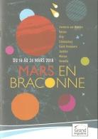 Programme - Mars En Braconne - 16 Au 24 Mars 2018 - Ill. Olivier Balez [Charente, GrandAngoulême] - Programs