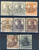 Germania Reich 1916 UN Serie N. 96-103 Usati Cat. € 20 - Gebraucht