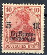 Germania Reich 1919 UN N. 104 P. 10 + 5 Rosso M Cat. € 2 - Ungebraucht