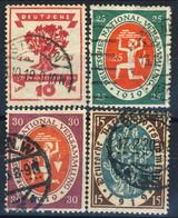 Germania Reich 1919-20 UN Serie N. 106-109 Usati Cat. € 9 - Gebraucht