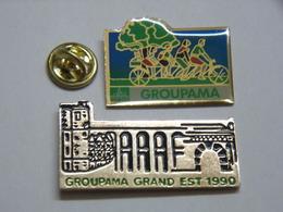 Pin's - Banque - Mutuelle - Assurance - GROUPAMA + GROUPAMA GRAND EST - Badges