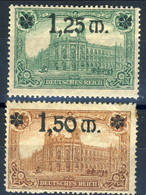 Germania Reich 1920 UN Serietta 116-117 M Cat. € 4 - Unused Stamps