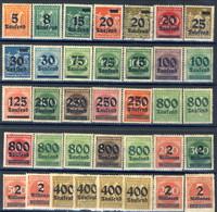 Germania Reich 1923 UN Serie N. 252-290 (36 Valori) NH E MH Cat. 110 - Deutschland