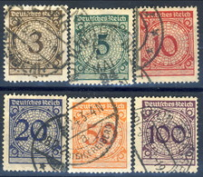 Germania Reich 1923 UN Serie N. 331-336 Usati Cat. € 4,50 - Gebraucht