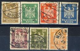 Germania Reich 1924 UN Serie N. 348-354 Usati Cat. € 6 - Gebraucht