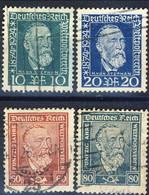 Germania Reich 1924 UN Serie N. 359-362 Usati Cat. € 4 - Gebraucht