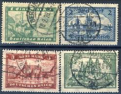 Germania Reich 1924-27 UN Serie N. 355-358 Usati Cat. € 34 - Gebraucht