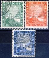 Germania Reich 1925 UN Serie N. 365-367 Usati Cat. € 2,40 - Gebraucht