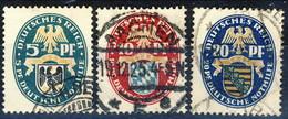 Germania Reich 1925 UN Serie N. 368-370 Usati Cat. € 22 - Gebraucht
