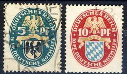 Germania Reich 1925 UN Serietta N. 368-369 Usati Cat. € 5 - Gebraucht