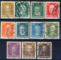 Germania Reich 1926-27 UN Serie N. 379-389 Usati Cat. € 24,50 - Gebraucht