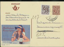Publibel Obl. N° 2735  ( Vin De France: De Martimont) Obl. Herenthout  Karnaval - Stamped Stationery