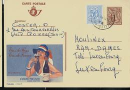 Publibel Obl. N° 2738  ( Vin De France: Sica Monroc) Obl.  Bxl 1980 - Stamped Stationery