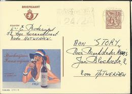 Publibel Obl. N° 2741  ( Vin De France: Vicomté D'Aumelas) Obl. Antwerpen  1980 - Stamped Stationery