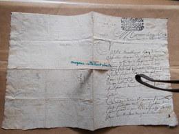 2e CACHET GENERALITE LA ROCHELLE XVIIIe 1703  Requette Henri DU LAU Celettes Charente Au Juge De Montignac En 1710 - Cachets Généralité