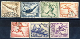 Germania Terzo Reich 1936 UN Serie N. 565-572 (manca N. 570) Usati Cat. € 19 - Gebraucht