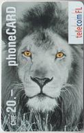SWITZERLAND - PHONE CARD  ***   PRÉPAID CARD -  LION *** - Dschungel