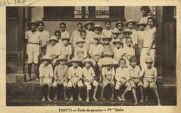 TAHITI Ecole De Garcons Mlle Spelta RV - Polynésie Française