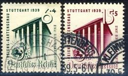 Germania Terzo Reich 1939 UN Serie N. 633-634 Usati Cat. € 9 - Gebraucht