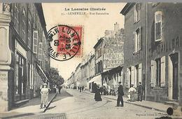 Lunéville   Rue Banaudon  CPA 1908 - Luneville