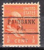 USA Precancel Vorausentwertung Preo, Locals Pennsylvania, Fairbank 729 - Vereinigte Staaten