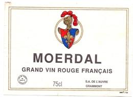 Etiket Etiquette - Vin Wijn - Moerdal - Grammont - Rouges