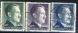 Germania Terzo Reich 1941-42 UN Serie N. 72, 724, 725 Usati Cat. € 81 - Gebraucht
