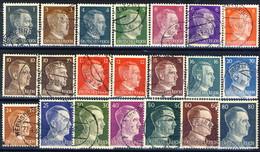 Germania Terzo Reich 1941-42 UN Serie N. 705-722 Usati Cat. € 10 - Gebraucht