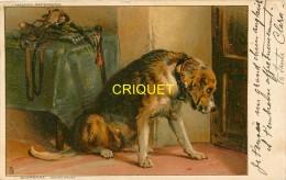Illustrateur, Cp Pionnière Tuck, Chien Qui Attend Derrière Une Porte, Bel Affranchissement 1902 - Tuck, Raphael