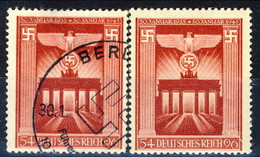 Germania Terzo Reich 1943 UN Serie N. 748 Usato E MNH Cat. € 6,50 - Gebraucht