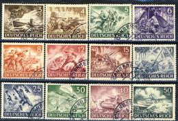 Germania Terzo Reich 1943 UN Serie N. 750-761 Usati Cat € 24 - Gebraucht